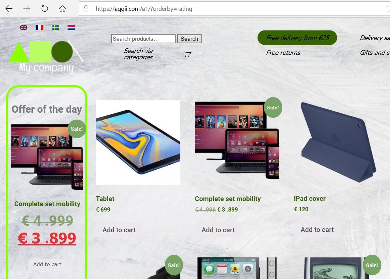 Ready-to-use web-stores, Votre e-commerce clé en main, Uw webwinkel klaar voor gebruik, Färdiga nätbutiker